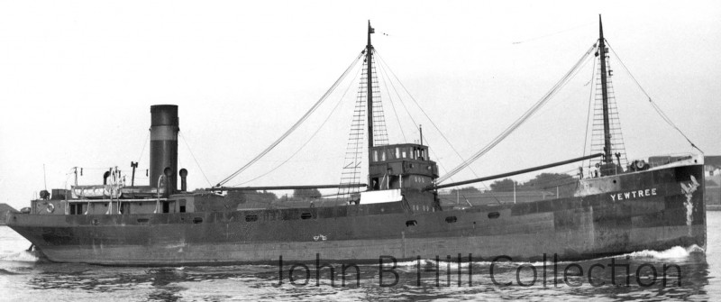 The 826grt Yewtree was built in 1928 by Scott Bowling on the Clyde. On 11th April 1960 she arrived at Blyth to be broken up by Hughes Bolckow.