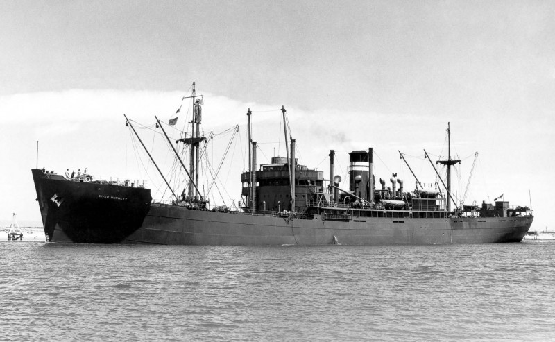 The 5,033grt River Burnett was built in 1947 by Evans, Deakin & Co. at Brisbane. In 1965 she was sold to Australine Shipping and renamed Ionic Coast, and in 1967 she became Ilissos of Devon SS Corporation. In April 1968 she was arrested in Shanghai and remained there until September 1973 when she went to Kaohsiung to be broken up.