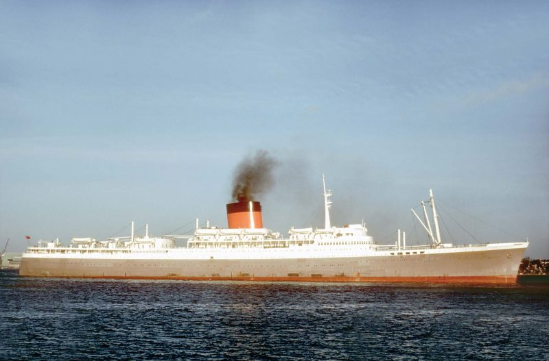 The 28,705grt Edinburgh Castle joined the fleet in 1948. On 4th June 1976 she arrived at Kaohsiung to be broken up by Chou's Iron & Steel Ltd.